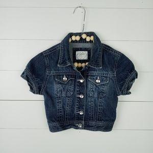 Justice Girls size 8 jean jacket
